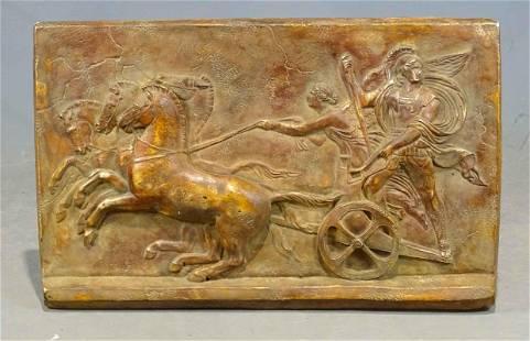 Plaster Roman Subject Wall Plaque