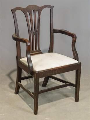 19th c. Hepplewhite Armchair