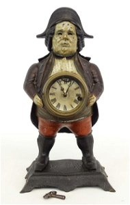 Early Cast Iron Blinking Eye Soldier Clock