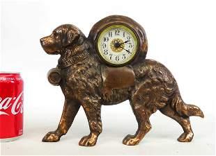 Figural St. Bernard Clock