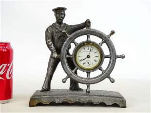Figural Sailor Clock