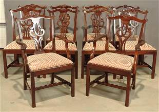 Set of (10) Chippendale Style Chairs