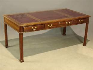 Stickley Leather Top Mahogany Desk