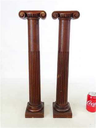 Pair 19th c. Wooden Columns
