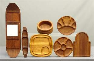 Mid Century Woodenware Lot