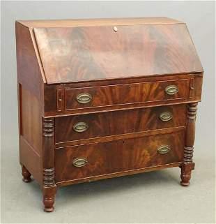 19th c. Empire Slant Lid Desk