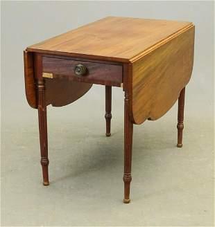 19th c. Sheraton Mahogany Dropleaf Table