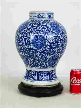 Chinese Ceramic Vase on Stand
