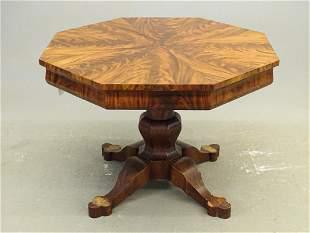 19th c. Empire Octagonal Center Table
