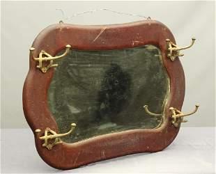 Victorian Oak Hall Mirror