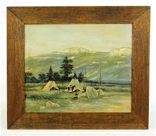 Painting, Winter Camp Landscape