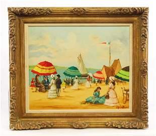 Painting, Beach Scene