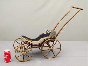 19th c. Doll's Pull Stroller