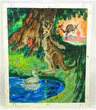 David K. Stone (1922-2001) Illustration Art