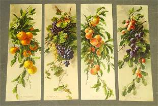 Fruit Still Life Set of Antique Prints (4)