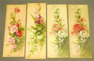 Flower Still Life Set of Antique Prints (4)