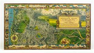 Pictorial Map Oregon Trail