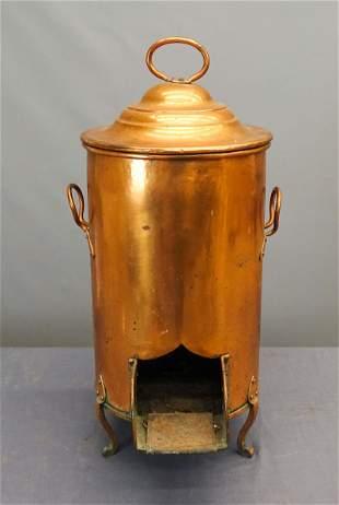 Copper Coal Bin