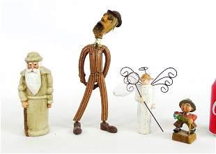 Wood Figurine Vintage Lot