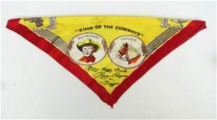 Vintage Roy Rogers Silk Scarf