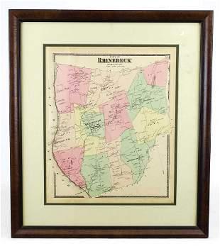 Map of Rhinebeck New York