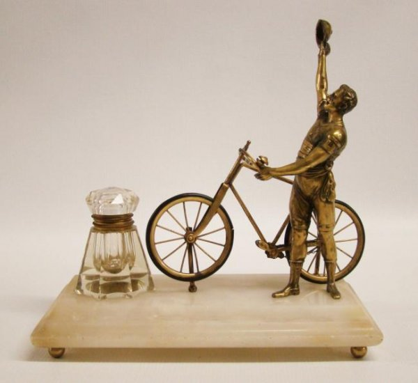 C.1890's Figural Ink Well