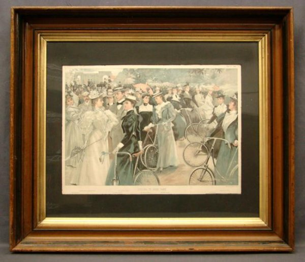 19th Bicycle Lithograph