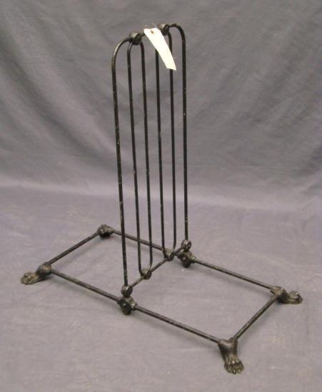 C. 1890's Cast Iron Bicycle Rack