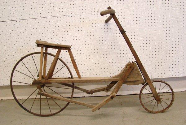 C. 1900 Wooden Velocipede