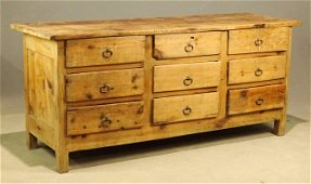 19th c. French Apothecary Cabinet