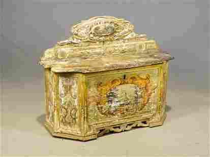 19th c. Continental Lift Top Chest