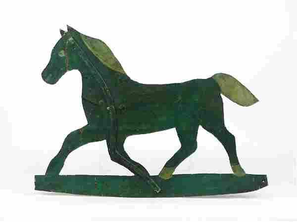 Folk Art Horse Metal Weathervane