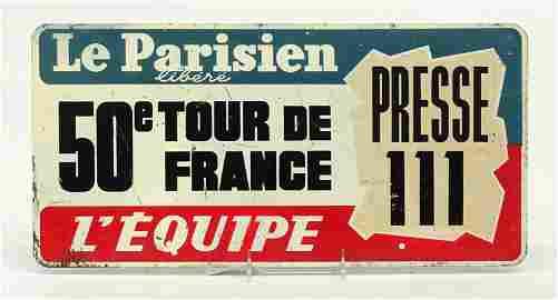 Tour De France Caravan Car Plaque