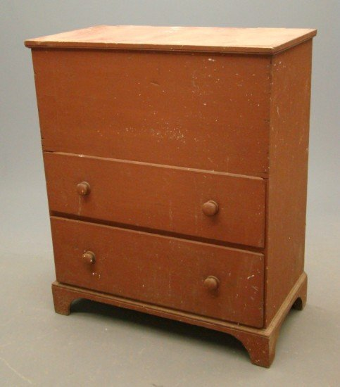 1A: 19th c. Shaker Blanket Chest