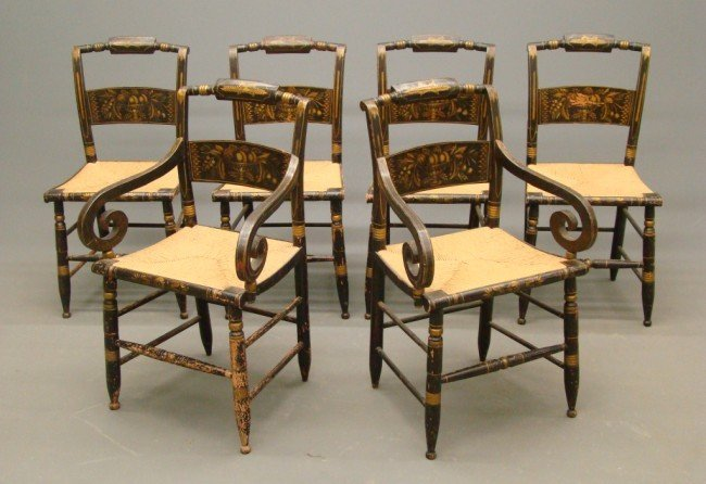 3: Set Of Six 19th c. Chairs