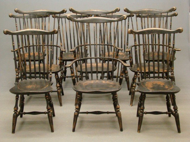5A: Set Of Ten Benchmade Windsor Chairs