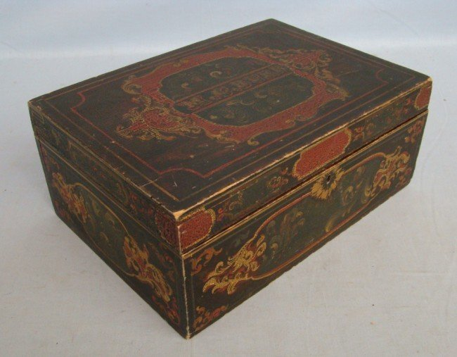 6: 19th c. Paint Decorated Box