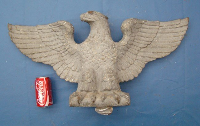 21: 19th c. Cast Iron Eagle