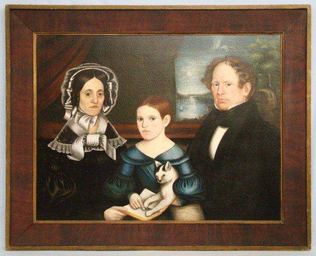 64: Important 19th c. Family Portrait