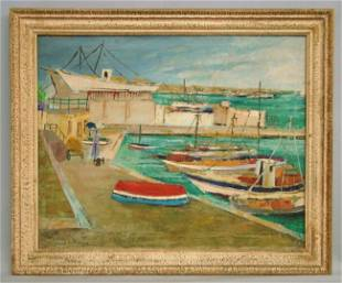 354: Painting Harbor Scene