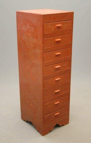 5: Asian Lacquered Cabinet