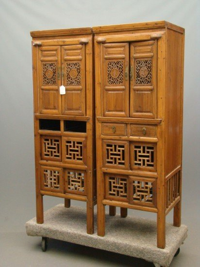 15: Pair Asian Cabinets