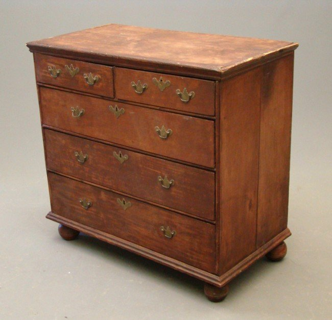 12: 18th c. William And Mary Chest Drawers