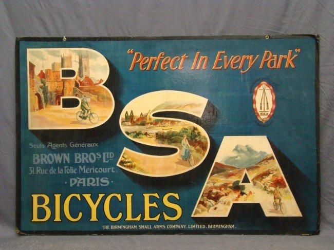 15: c. 1910 BSA Bicycle Sign