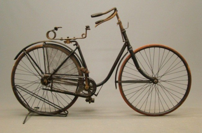 17: c. 1885 Female Hard Tire Safety Bicycle