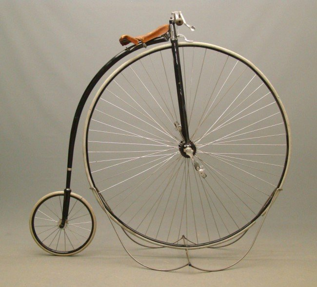 "62: c. 1886 53"" Columbia Expert Highwheel Bicycle"