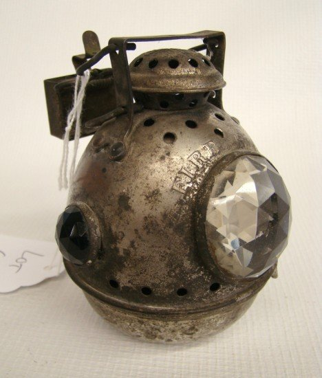 """67: C. 1898 """"Fire Ball"""" Safety Bicycle Lamp"""