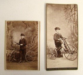 Lot (2) Cabinet Cards