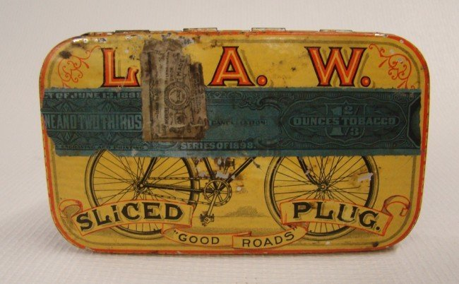 91: L.A.W. Tobacco Tin