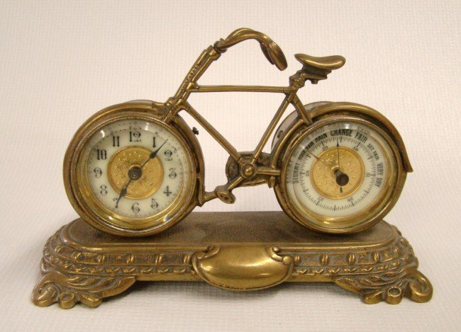 123A: 19th c. Safety Clock And Barometer